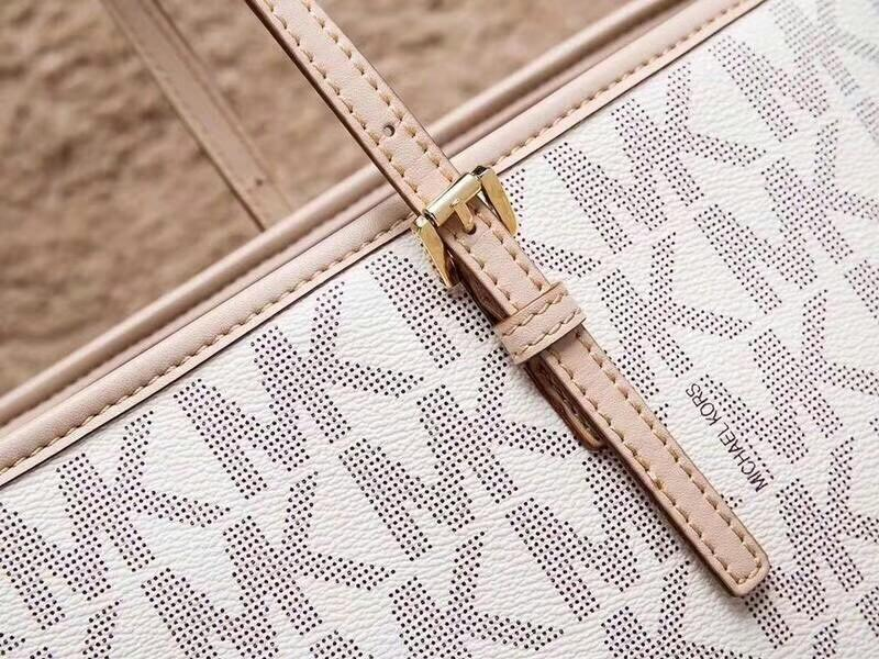 MK printed letters shopping bag counters new cloth in small letters within the qr code label special fabric with original leather hardware shopping bag support inspection version