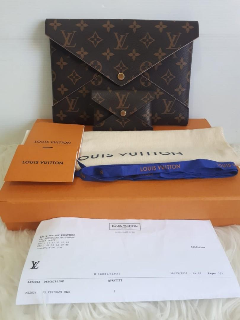 Never Been Used LOUIS VUITTON Monogram Kirigami Wallet tahun 2018 Size 23 x 26 - bisa jadi clutch Size 10 x 7 With Wallets, Dustbag, Box, Ribbon, Copy Receipt, and Bookled