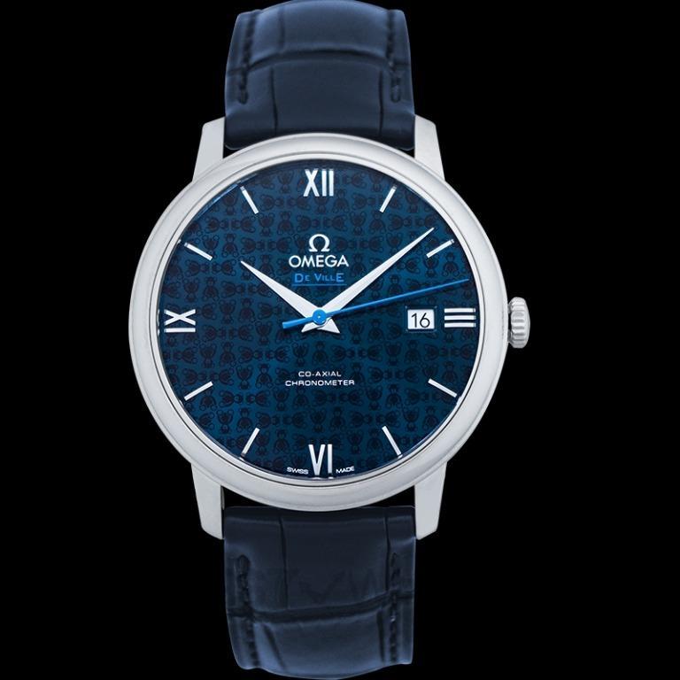 [NEW] Omega De Ville Prestige Co‑Axial 39.5mm Automatic Blue Dial Steel Men's Watch 424.13.40.20.03.003