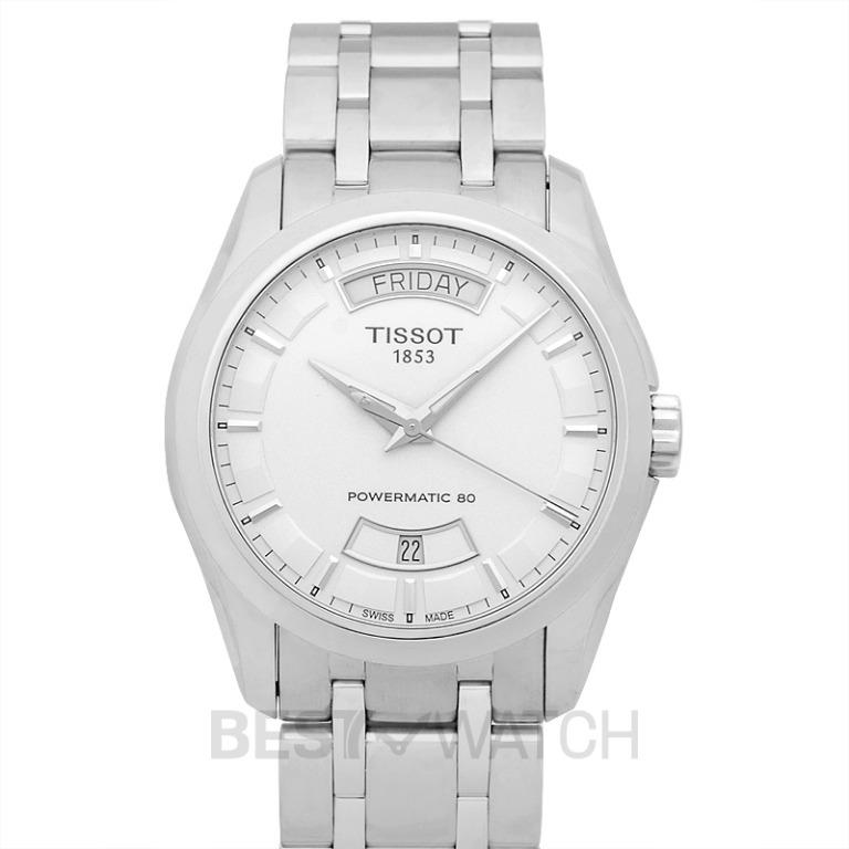 [NEW] Tissot T-Classic Couturier Powermatic 80 Automatic Silver Dial Men's Watch T035.407.11.031.01