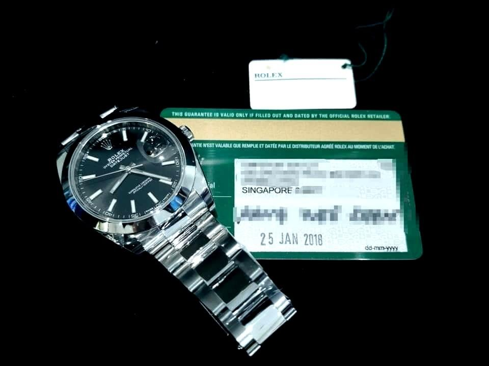 PREOWNED ROLEXDatejust Forty One, 126300 Oystersteel, 41mm, Alphanumeric Series @ Dated 2018, June Mens Watch