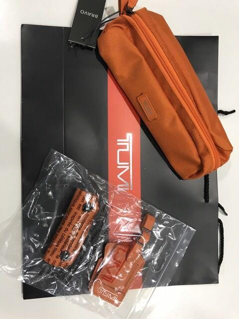🔥READY STOCK MALAYSIA🔥. Tumi Bag Case @ Cable case @ Pencil case new oranges color.
