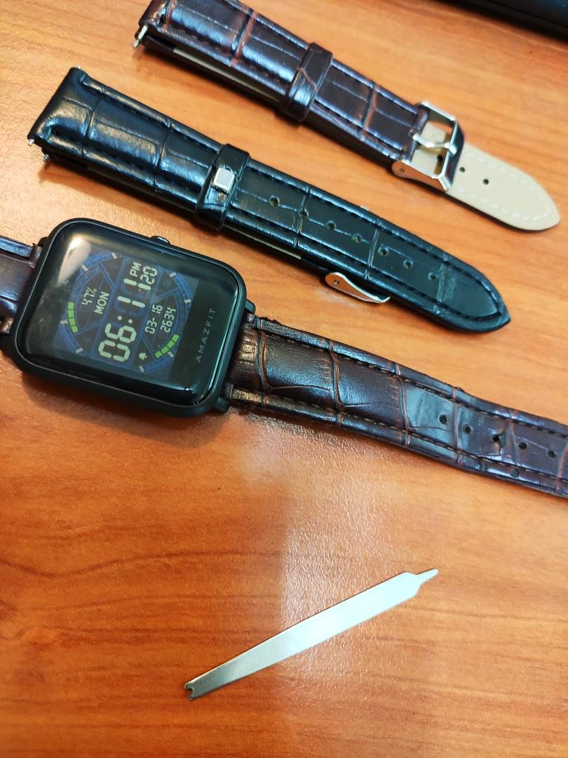 Synthetic leather watches strap (black and brown) suitable for MOST smart watches too!!)