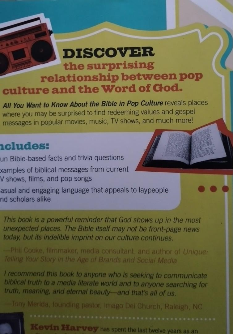 The Bible and Pop Culture: Finding our Creator in Superheroes, Prince Charming, and Other Modern Marvels