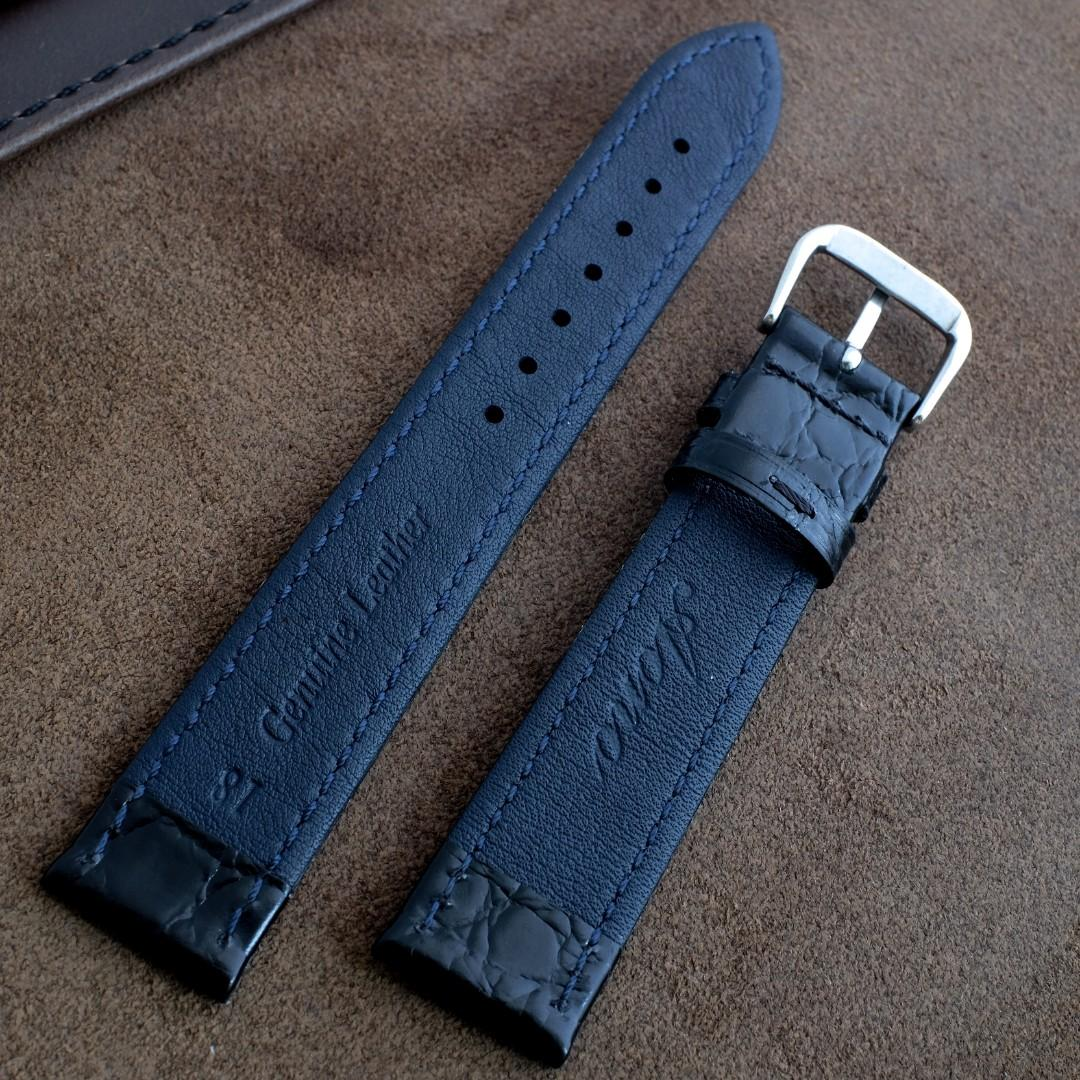 Top Grain Calf Leather Upgraded Vintage Style Pebble Embossed Thin Genuine Leather Strap 18mm