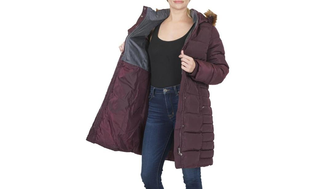 Women's Quilted Hooded Puffer Jacket with Cozy Lining (Size M)