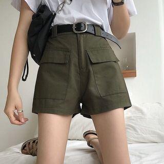 軍綠工裝短褲
