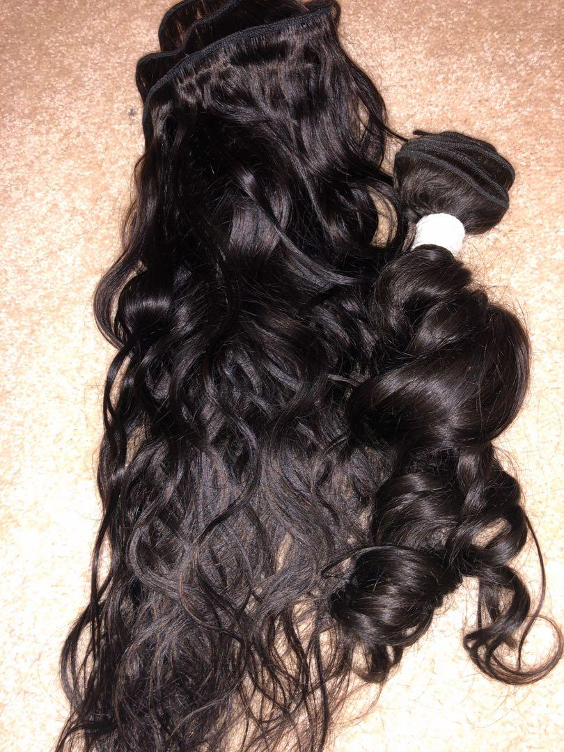 20' and 16, body wave Unprocessed Brazilian bundle