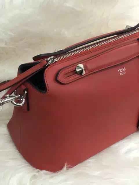 Authentic Fendi Btw Small red, genuine leather bahan full original kulit asli mulus, Like New