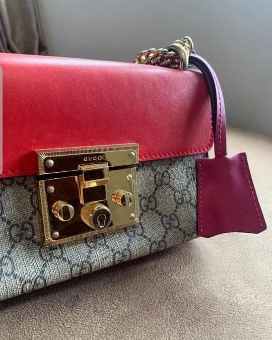 Gucci Padlock small bag mirror vip kulit ada noseri , tag hitam size 20cm mulus dan like new
