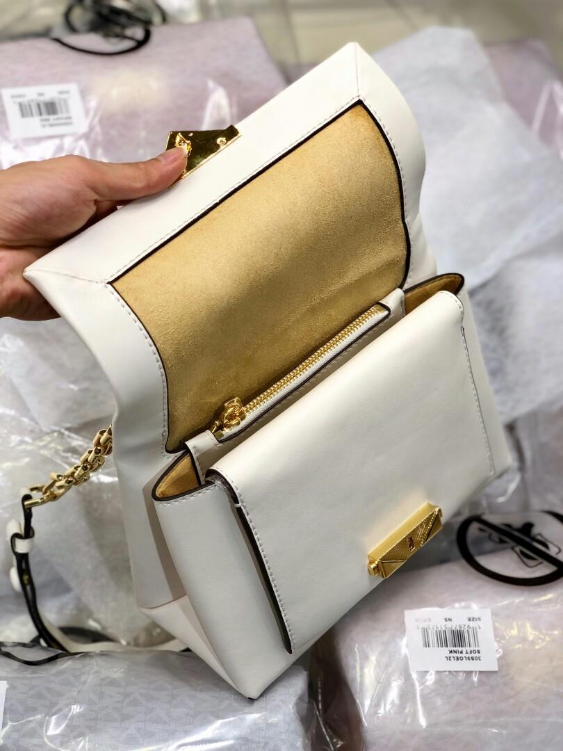 Original MK full skin medium chain single shoulder bag white with concise package type controls the fashionable feeling