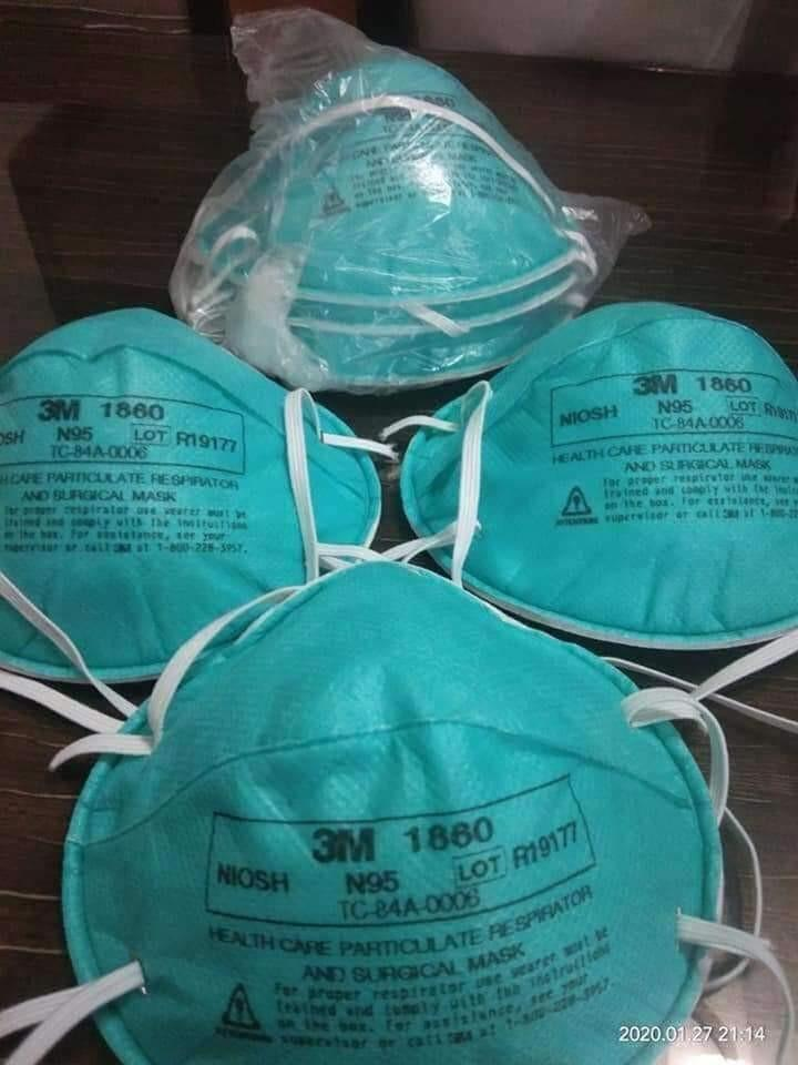 N95 face masks 1860 and 8210 3M brands, FFP2/3 available