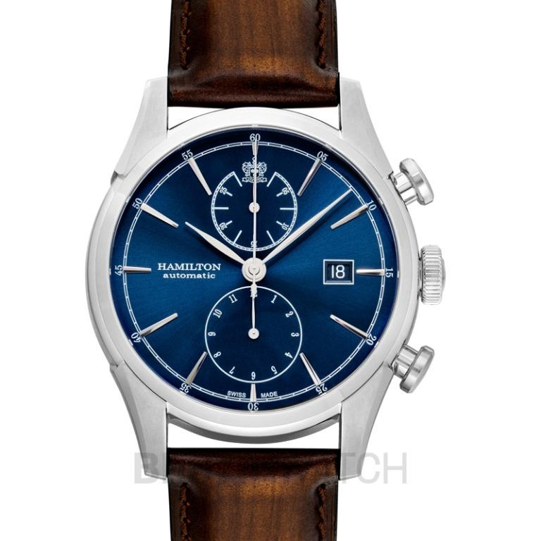[NEW] Hamilton American Classic Spirit of Liberty Auto Chrono Automatic Blue Dial Stainless Steel Men's Watch H32416541