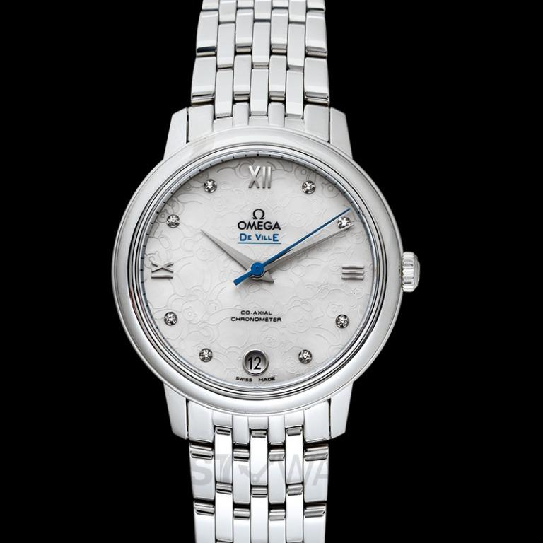 [NEW] Omega De Ville Prestige Co-Axial 32.7 mm Orbis Automatic White Dial Diamonds Ladies Watch 424.10.33.20.55.004