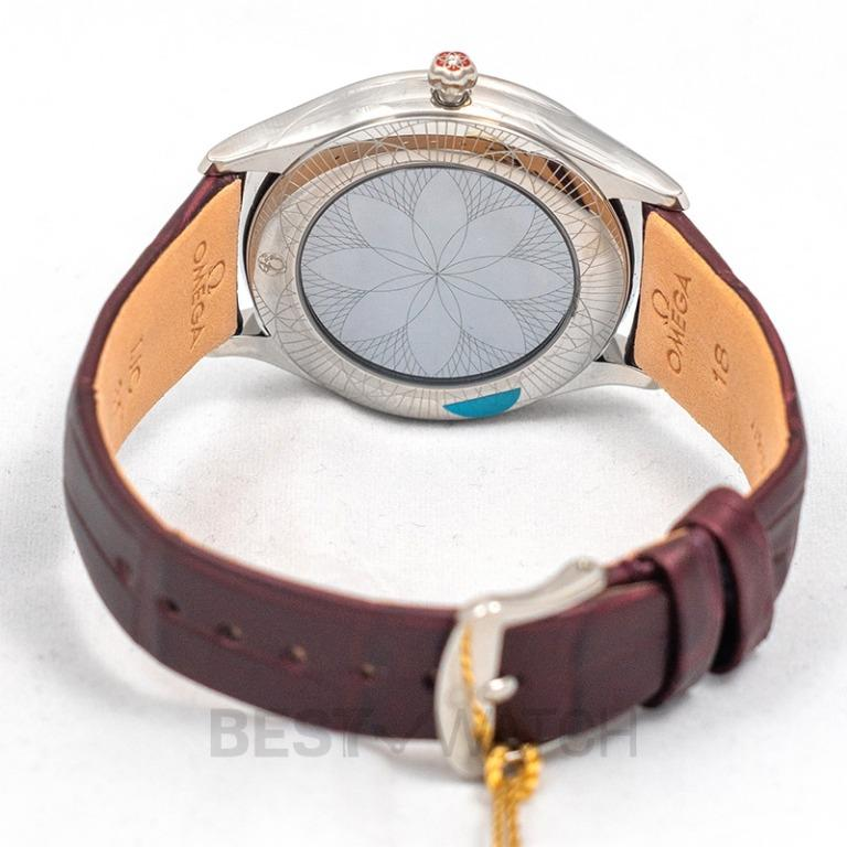 [NEW] Omega De Ville Tresor Quartz 36mm Quartz Red Dial Steel Unisex Watch 428.18.36.60.11.001