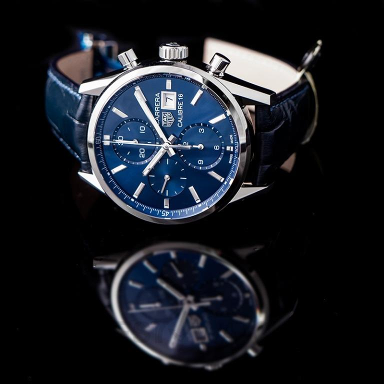 [NEW] TAG Heuer Carrera Calibre 16 Chronograph Automatic Blue Dial Men's Watch CBK2112.FC6292