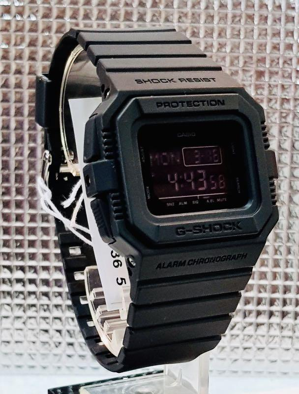 GSHOCK🌟TORNADO : NEW UNISEX DIVER SPORTS WATCH : 100% ORIGINAL AUTHENTIC CASIO G-SHOCK : DW-D5500BB-1DR / DW-D5500BB-1 (FULLY-BLACK)
