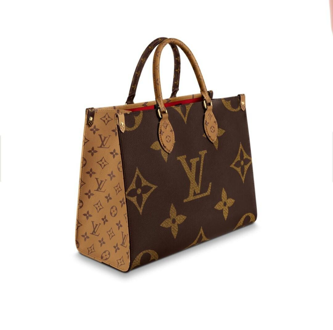 Onthego medium handbags classic Monogram service canvas with Monogram service Reverse points act the role of on both sides of the canvas different fashion at present