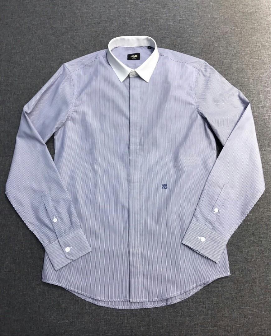 Original Selections FE DI fenty little monsters the original single men s fashion style stripe long sleeve shirt top foreign firm channels goods high-end Italian origin the official has sold series advertising materials and models wearing take money
