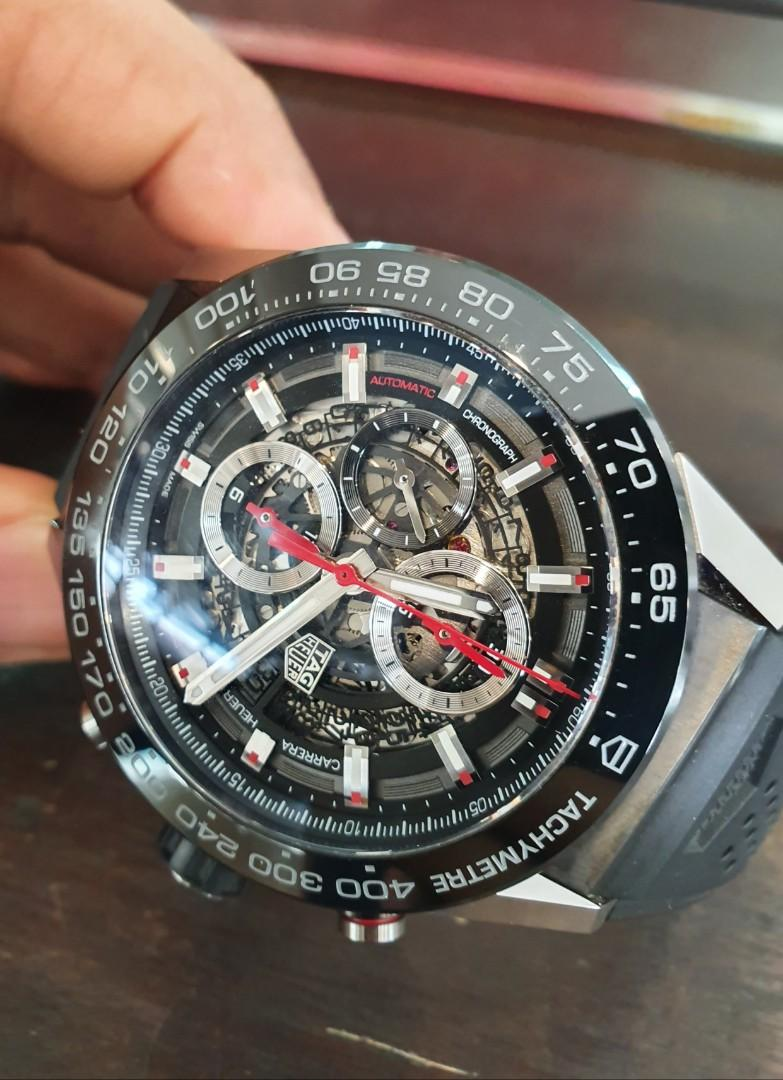 Tag Heuer Carrera Calibre Heuer 01 Mens Skeleton  Watch CAR2A1Z.FT6044