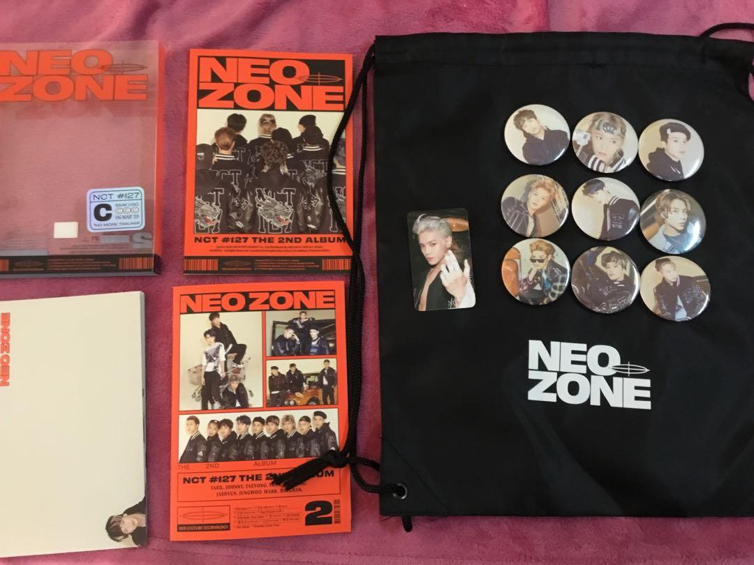 Unsealed NCT 127 Neo Zone Album C version + Free Gifts