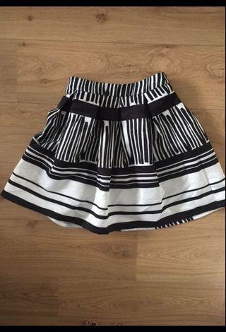 MOMA氣質黑白百褶裙