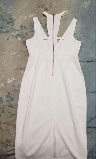 White strapped dress