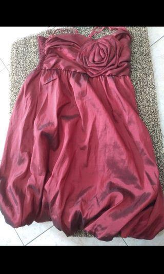 Sale - Red dress bunga