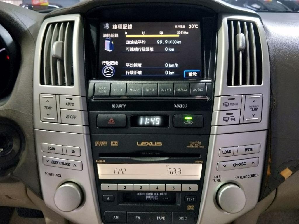 2007年 LEXUS RX350一折出售,車況佳,配備超多