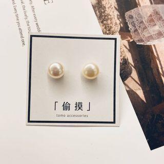  珍珠 swag かぶしきがぃしゃ  極簡淡水珍珠耳環