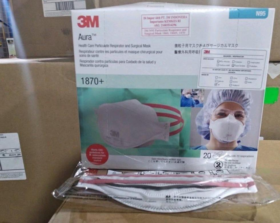 3 Ply surgical ear loop face masks 1826 and N95 face masks 1860 and 8210