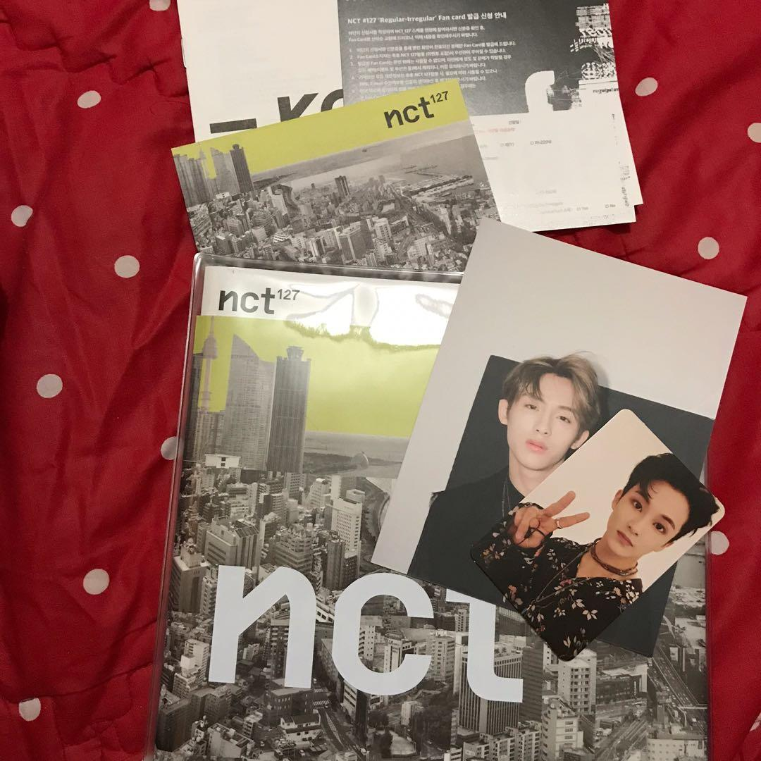 ( UNSEALED ) ALBUM NCT 127 REGULAR VER MARK PC & WINWIN POSTCARD & TAEYONG POSTER