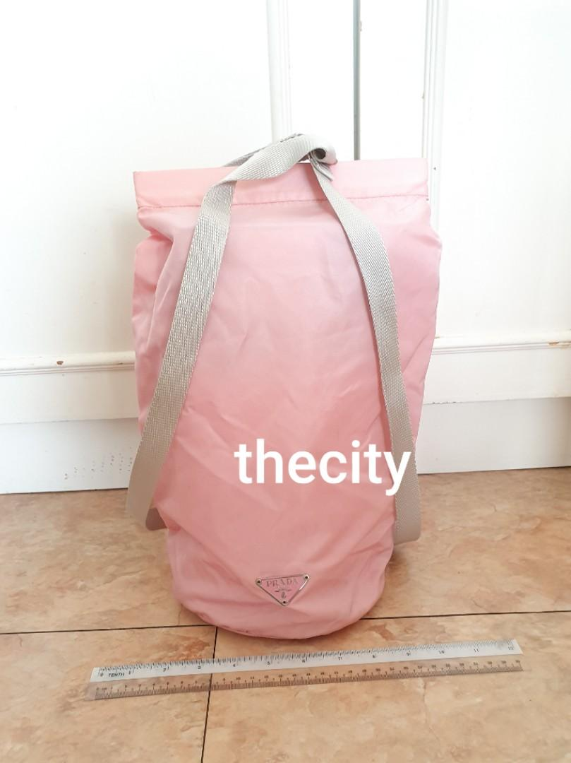 AUTHENTIC PRADA PINK NYLON CANVAS BACKPACK - CLEAN INTERIOR,  NEVER BEEN USED,  KEPT IN STORAGE - (PRADA BACKPACKS NOW RETAIL AROUND RM 6000+)
