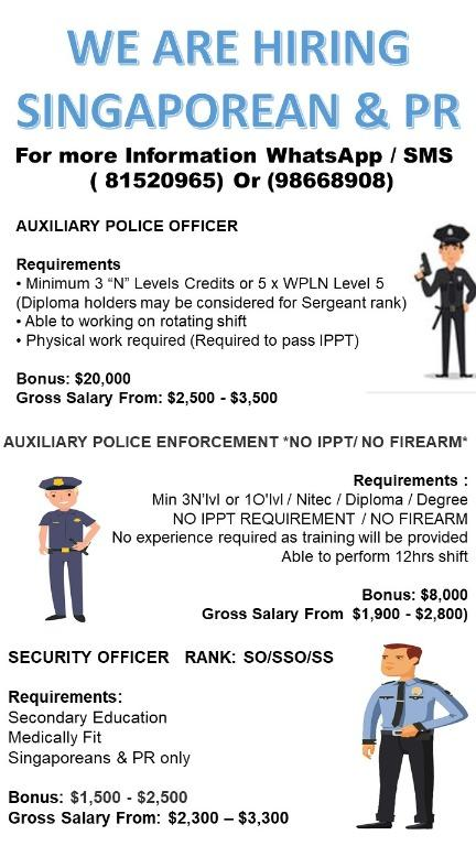 AUXILIARY POLICE ENFORCEMENT *NO IPPT/ NO FIREARM*