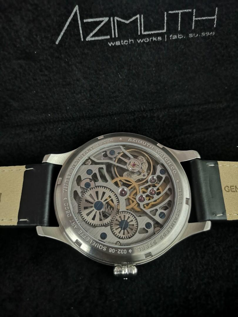 Azimuth Officer Squelette Art Deco (Rose Gold Dial)  47mm Manual winding