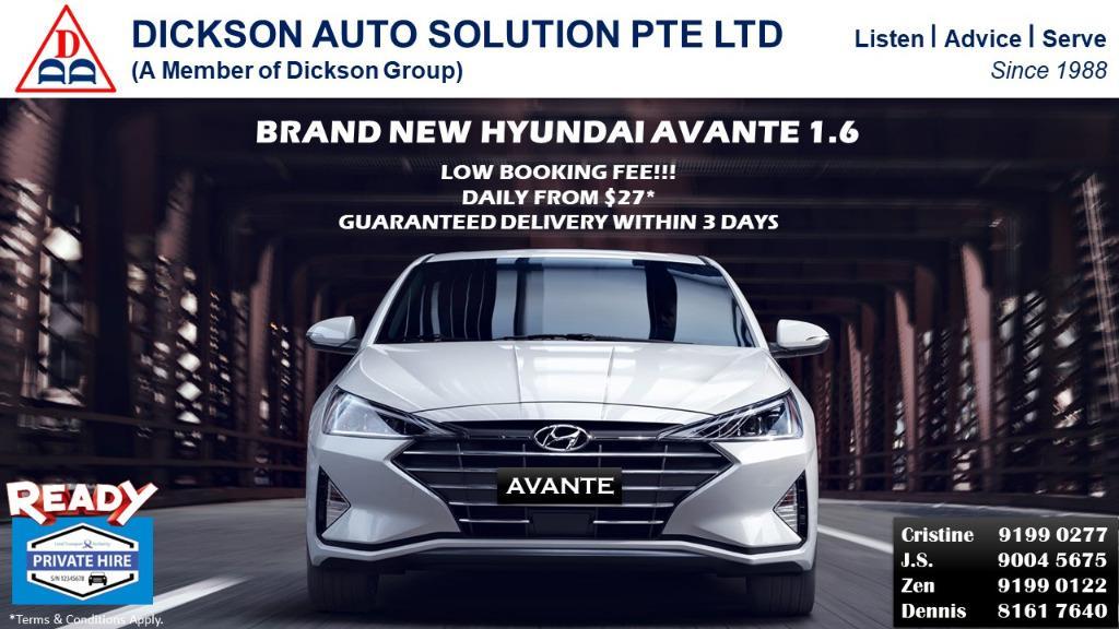Brand New Hyundai Avante Driveaway within 3 working days