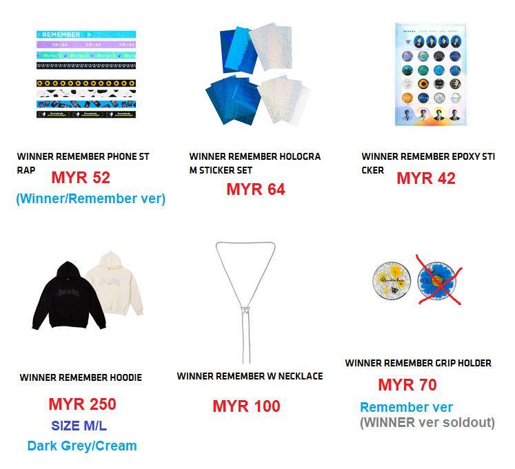 🇲🇾[FAST GO] #WINNER 3RD ALBUM '#REMEMBER' MERCHANDISE