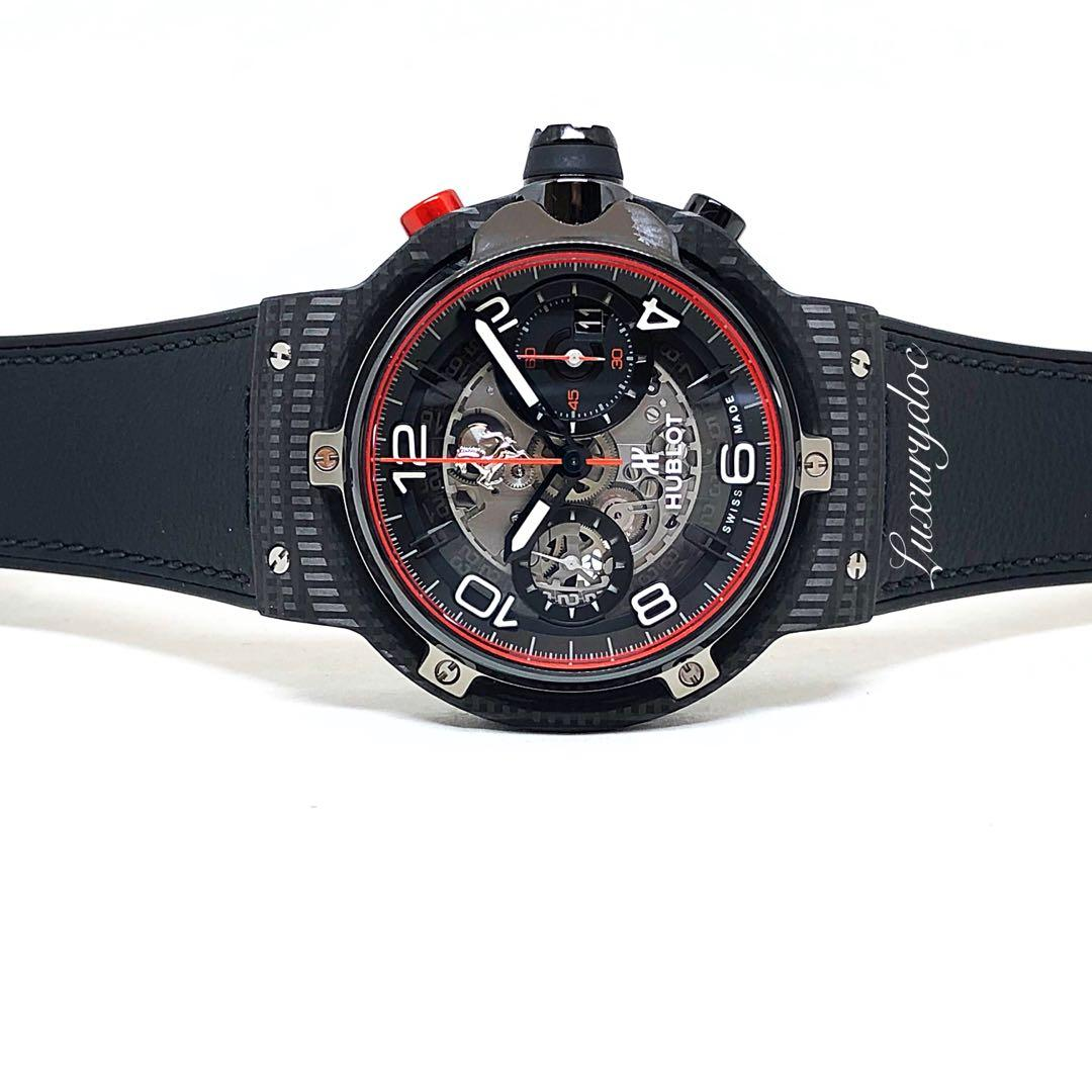 FS.BNIB HUBLOT CLASSIC FUSION FERRARI GT 3D CARBON UNICO MOVEMENT AUTOMATIC CHRONOGRAPH LIMITED EDITION 45MM WATCH 526.QB.0124.VR