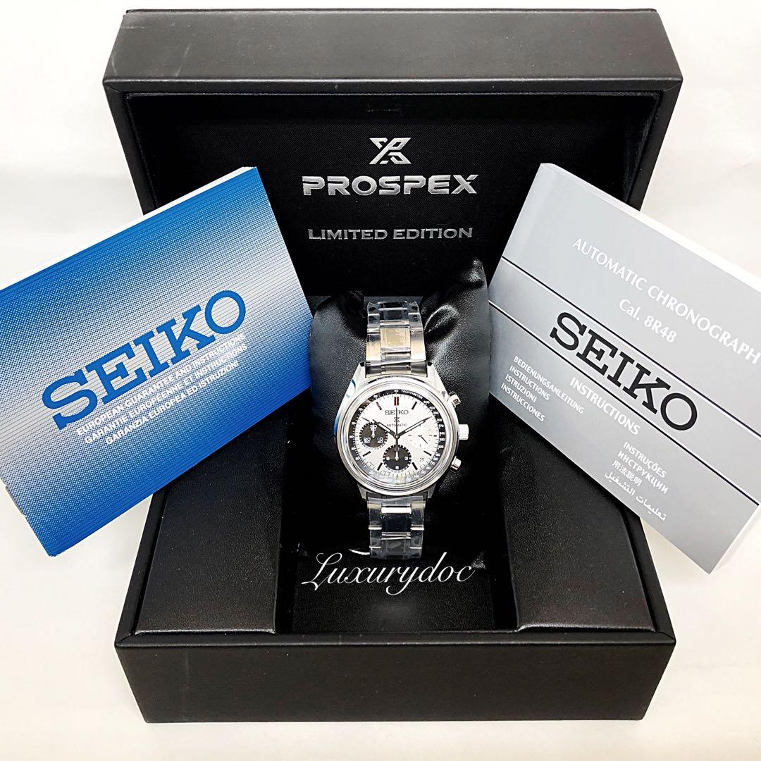 FS.BNIB SEIKO PROSPEX LIMITED EDITION 50TH ANNIVERSARY PANDA AUTOMATIC CHRONOGRAPH 41MM WATCH SRQ029 SRQ029J1