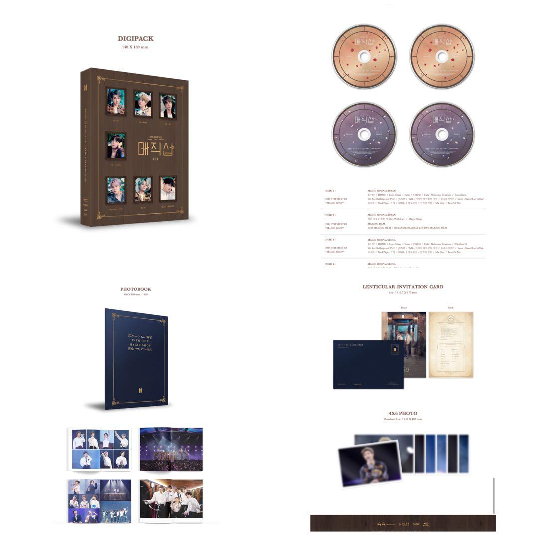 [GROUP ORDER] 2019 BTS 5TH MUSTER [MAGIC SHOP] DVD & BLU-RAY