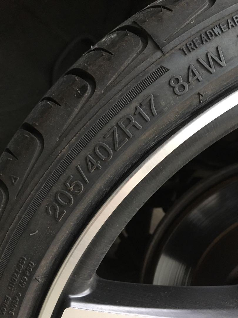 Honda原廠鋁圈含輪胎 Civic Ferio K10 2002-2003