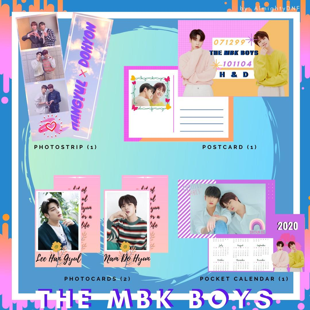 💎INC. POSTAGE💎 THE MBK BOYS MINI FANKIT (HANGYUL + DOHYON)