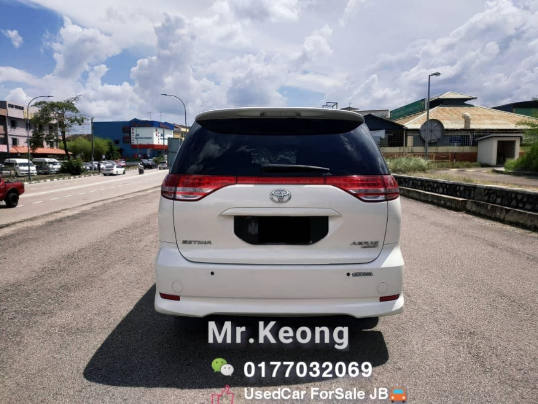 Made2008TH/Reg:2012 JB Plate一手华人车主🚘TOYOTA ESTIMA 2.4AT 2 P.DOOR 8 SEATER TipTop Family Carking🚘Cash OfferPrice💰6X,Xxx Only🎉Monthly Rm1330 Only For 5 Year Loan🤗LowestPrice InJB‼Interested Call📲KeongFor More🤗WHO Fast Deal WHO Get The Car🚘