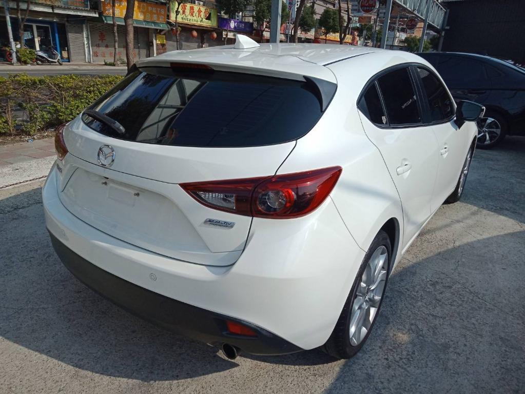 Mazda 2016年 魂動馬3 頂級 白 跑6萬