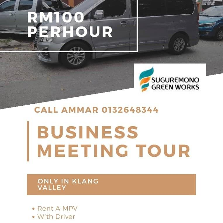 MPV rental with driver for business or meeting usage
