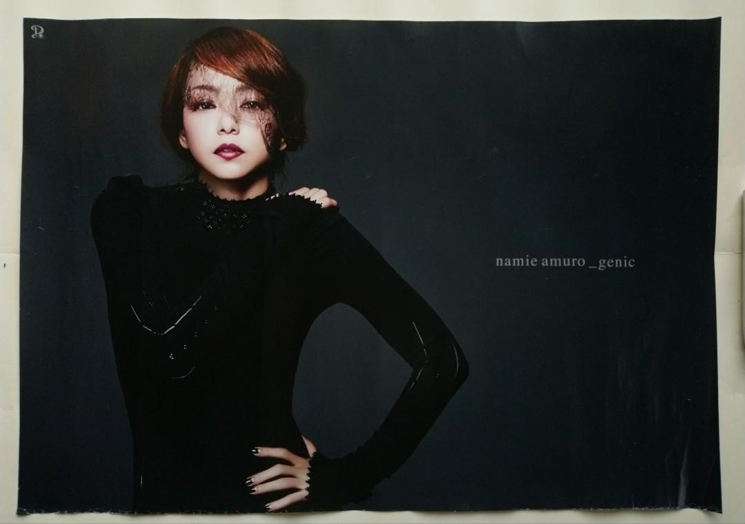 JAPAN SINGER-NAMIE AMURO(安室奈美惠):GENIC/TOWER RECORDS予約特典ver.-poster(Official Japan Poster/out of printed)