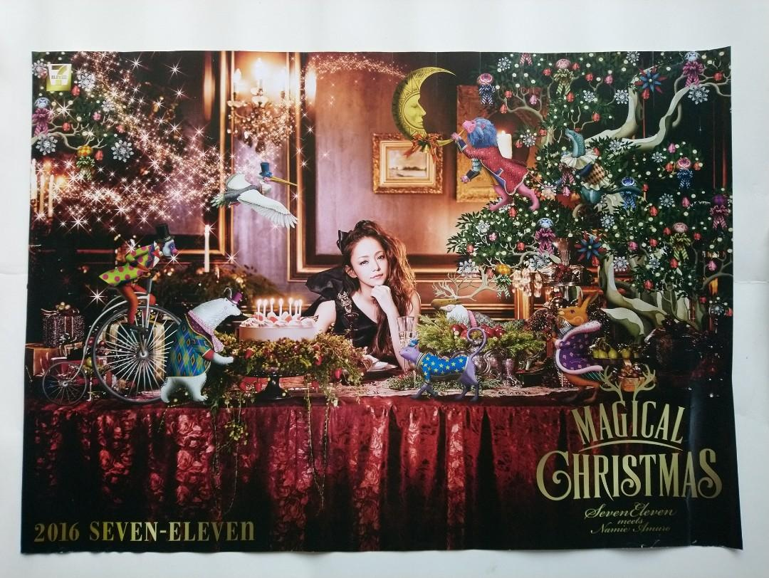 Namie Amuro(安室奈美惠)-Magical Christmas 2016/Seven Eleven meets Namie Amuro(Official Poster/out of printed)-FREE SHIPPING