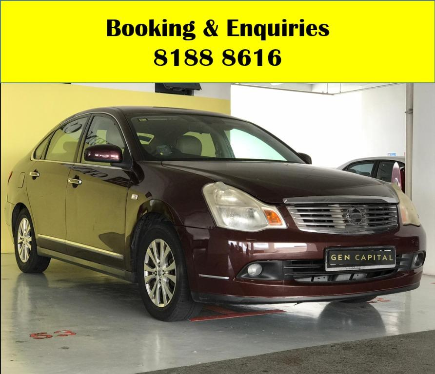 Nissan Sylphy HAPPY WEDNESDAY!! Cheapest car rental in town with just $500 Deposit driveaway immediately! Fuel efficient and Spacious car in Super condition! FREE Petrol Voucher & FREE rental for new signups! Whatsapp 8188 8616 now!!