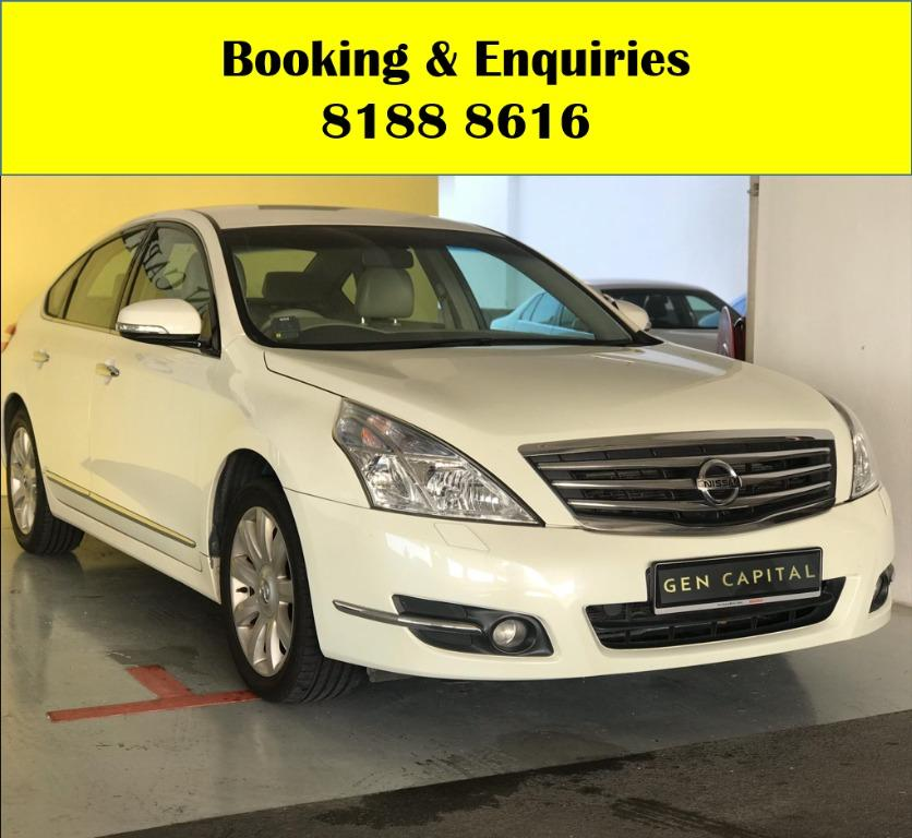 Nissan Teana HAPPY WEDNESDAY!! Cheapest car rental in town with just $500 Deposit driveaway immediately! Fuel efficient and Spacious car in Super condition! FREE Petrol Voucher & FREE rental for new signups! Whatsapp 8188 8616 now to enjoy special rates!!