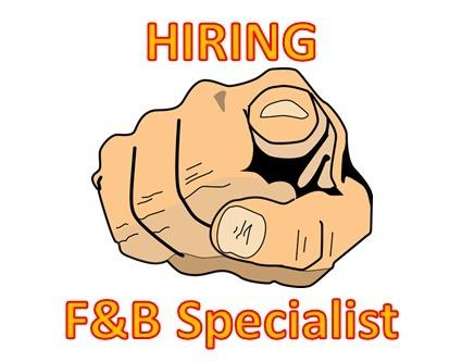 Part-Time F&B crew x 10 East Area (start work next week)